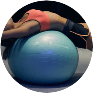 Stretching on exercise ball