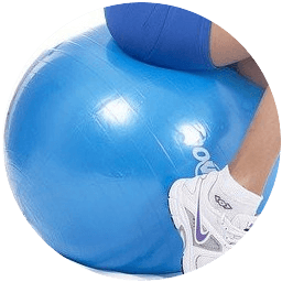 Posture on an exercise ball